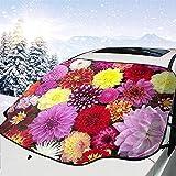 Tridge Die Chrysantheme Familie Auto Windschutzscheibe Schneedecke für Auto Windschutzscheibe Ice Cover Protector wasserdicht