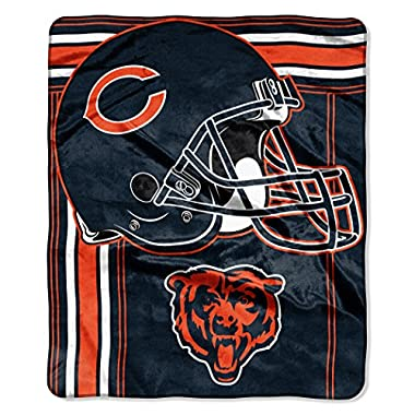 The Northwest Company NFL Chicago Bears Touchback Plush Raschel Throw, 50  x 60 , Dark Navy Blue
