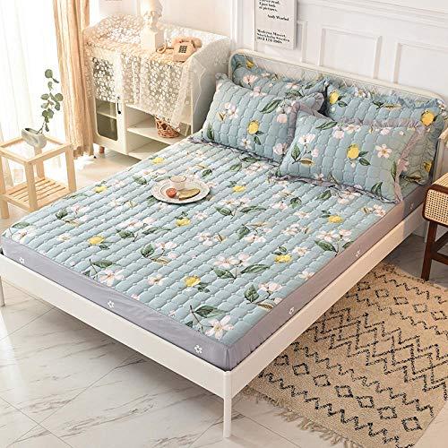 YFGY Sábana Bajera,Cubierta de colchón de sábana Ajustable de Invierno de Dibujos Animados, sábanas de algodón Acolchadas cálidas Gruesas J Solo 120 * 200 cm