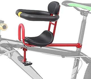Barncykelsadel cykelmonterad, säkert frammontering barncykelstol med armstöd och hopfällbar pedal, avtagbart barncykelsät...