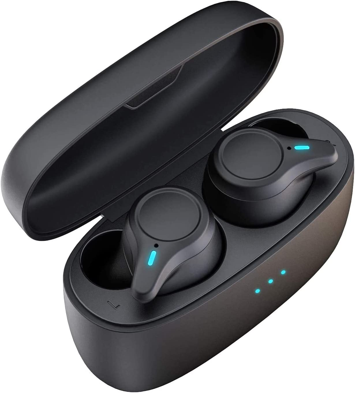 KOSETON E10 True Wireless Earbuds Black Bluetooth 5.0 Wireless in-Ear Headphones IPX5 Waterproof for Running and Sport, 30 Hour Battery, Reality Stereo Sound