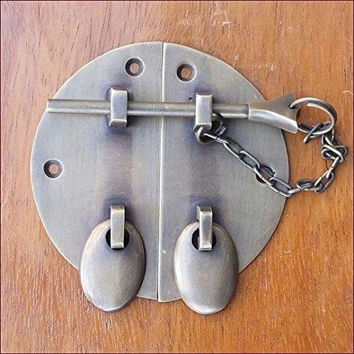 MANJA MTMET-097 真鍮 金具 金物 取っ手 ドアノブ つまみ ハンドル かんぬき 閂 アンティーク レトロ調 ナチュラル