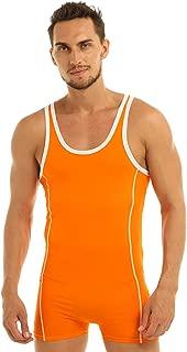 FEESHOW Men's Cotton Bodysuit Leotard Sports Underwear Tights Singlet