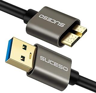 SUCESO Cavo Micro B a USB 3.0 A 5Gbps [0.5M] Cavo di Sincronizzazione per Hard Disk, Toshiba Canvio, Disco Rigido Esterno ...