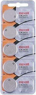 Tanco Impex Maxell CR2025 - Pilas de botón para mandos de coche (5 unidades, 3 V, litio)