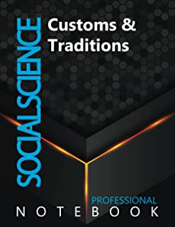 """Social Science, Customs & Traditions Ruled Notebook, Professional Notebook, Writing Journal, Daily Notes, Large 8.5"""" x 11""""..."""