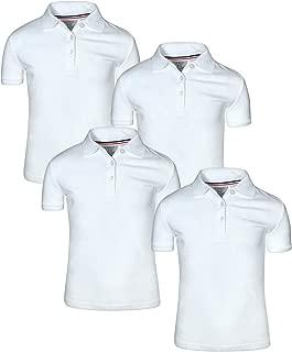 Girl's Uniform Polo Short Sleeve Interlock (4 Pack)