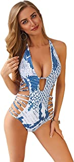 Women's Sexy One Piece Monokini Cut Out Bandage Swimsuit Swimwear