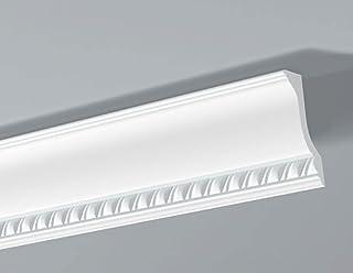 Guardasilla//Moldura decorativa pared blanca NMC WALLSTYL/® WL1 38X18X2000mm Poliestireno Gran dureza 10 metros