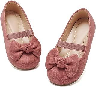 Toddler Girls Ballet Flats Shoes Ballerina Bowknot Jane Mary Wedding Party Princess DressU1DNDGZX02-Dusty Pink-25