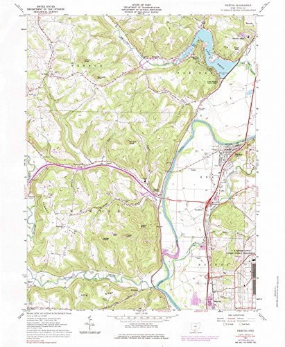 Ohio Maps - 1961 Piketon, OH - USGS Historical Topographic Wall Art - 44in x 55in