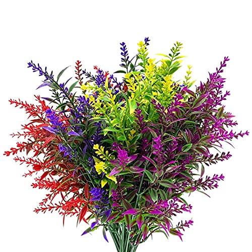 Buiten decoratieve planten Kunstmatige lavendel buiten bloemen plastic nep bloemen planten, kunstbloemen faux planten…