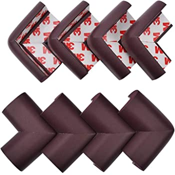 Spongy Cushion Material Makes Table // Other Furniture Corners Safer Diamond Shield Black Table Corner Guards 8 Pack Protects Your Baby // Child from Bumping or Falling Injuries