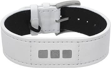 Teno White Nylon and Stainless steel Unisex Bracelet. Total Item weight 12.4 g.
