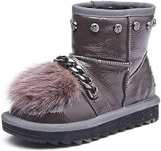 Girls Toddler/Little Kid/Big Kid Winter Snow Sheepskin Fur Boots