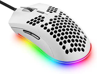Lightweight Wired Gaming Mouse with 7 Button 26RGB Backlit Programmable Driver PAW3325 12000 DPI Optical Sensor Ultralight...