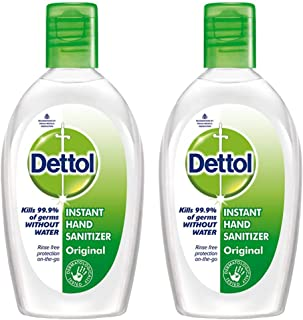 Dettol Hand Sanitizer (Pack of 2) (50ml Each)