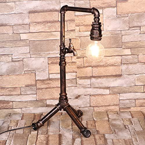 Raelf Wohnzimmer Stehlampe Retro Industrie Wind Eisen-Kunst-Wasser-Rohr-Lampe Industrielle Stehlampe Retro-Art-Eisen Sweep goldener High Pass Turm Tipp Vertikale Licht Dampf-Punk-Beacon E27