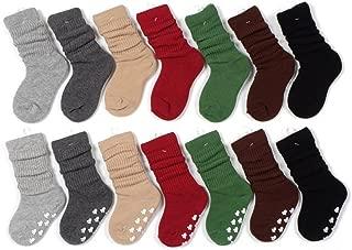 Butterme 6 Paar Unisex Baby Gils Jungen Winter Warm Wende Manschette Socken Dick Baumwolle Anti-Rutsch-Socken f/ür 1-3 Jahre Farbe zuf/ällig