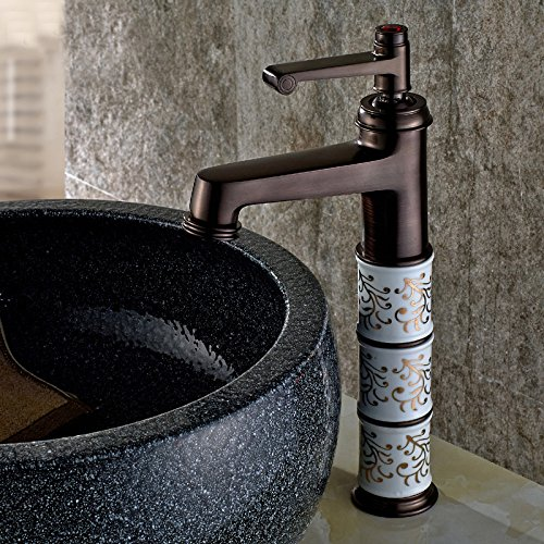 Purchase JIAHENGY Sink Mixer Faucet tap Personalized fashion trend Swivel Spout Monobloc Black,oil R...