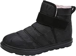 Snow Boots for Men,Fheaven Winter Cotton Ankle Booties Non-Slip Casual Fur Lined Warm Boot