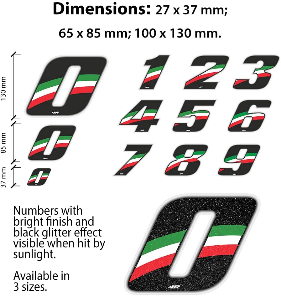 Flag Quattroerre Racing Number 9 Anodized Mini