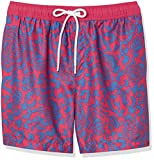 Amazon Essentials Men's 7' Swim Trunk, Red Vintage Floral,...