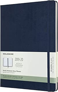 Moleskine Classic 18 Month 2019-2020 Weekly Planner, Hard Cover, XL (7.5