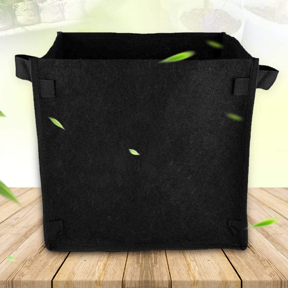 Cozyhoma 3 sacchetti quadrati da 30,5 l fiori confezione da 3 vasi intelligenti per coltivare piante ortaggi in tessuto spesso con manici