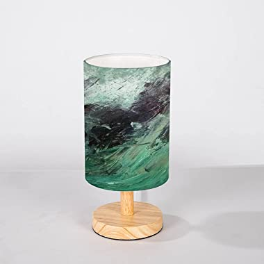 Minimalist Bedside Table Lamp Abstract Background Oil Canvas Photo Palette for Painting Different Solid Wood Nightstand Lamp