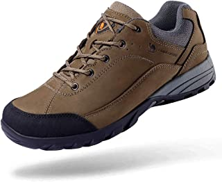 CAMEL CROWN Men's/Women's Lightweight Breathable Leather Hiking Shoes for Outdoor Camping Trekking Exploring Walking