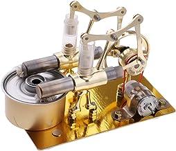 FLAMEER Stirling Modelo Motor Aire Caliente Electricidad Generador Material Educativo Físico - A