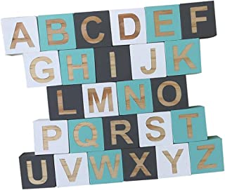 Baoblaze 26Pcs Wooden English Alphabet Block Letters Educational Game Toys Wood Craft Early Learning Education #B