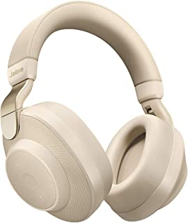 Jabra Elite 85h Wireless Noise-Canceling Headphones, Gold Beige – Over Ear Bluetooth Headphones Compatible with iPhone & Android - Built-in Microphone, Long Battery Life - Rain & Water Resistant