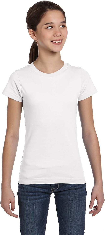 LAT Superior Sportswear Girl's Fine T-Shirt Longer-Length Be super welcome Jersey