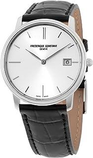 Frederique Constant Men's FC220NS4S6 Slim Line Slim Line Mens Black Leather Strap Watch Watch