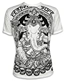 Sure Clothing Vignesha Talla M L XL Espíritu Natural Budismo Yoga Buda Hinduismo Namaste Dios Elefante Cráneo (M, Blanco)