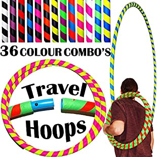 ULTRA-GRIP Pro Hula Hoops (100cm/39') UV Weighted TRAVEL Hula Hoop / Hula Hoops For Exercise, Dance & Fitness! (680g) NO Instructions Needed - Same Day Dispatch! (Black/UV Yellow):Hitspoker