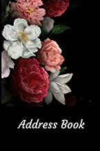 Address Book: With Alphabetical Tabs, For Contacts, Addresses, Phone, Email, Birthdays and Anniversaries (Roses)