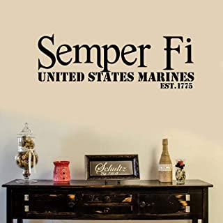 reande Walls Semper Fi United States Marines for Boys Room Play Room Game Room