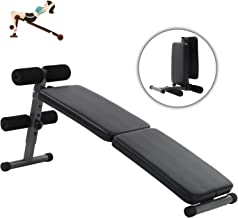 Adjustable Weight Bench Foldable Workout Bench Heavy-Duty Sit Up Bench for Full Body Portable Exercise Olympic Weight Bench