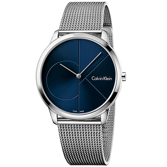 Calvin Klein  Minimal Watch - K3M2112N (Blue/Silver) Watches