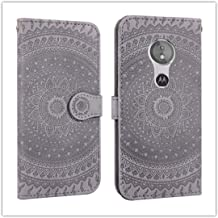 For Sony Xperia L2 Pressed Printing Pattern Horizontal Flip PU Leather Case with Holder & Card Slots & Wallet && Lanyard New (Gray) HuangFF (Color : Violet)