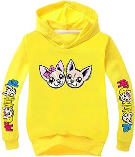 C&NN Personaggi Toddler Bambini Ragazzi Cartoon con Cappuccio Pullover Felpa Tops,Giallo,140cm
