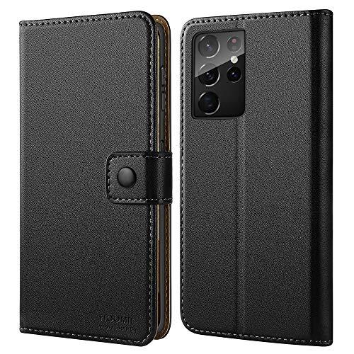 HOOMIL Cover Compatibile con Samsung Galaxy S21 Ultra Custodia (Versione Aggiornata), Nero