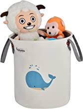 Baby Storage Basket, CAROEAS Whale Nursery Organizer Portable Fabric Laundry Bag Waterproof with Soft Handles Flexible for Kids' Toys, Pet Supplies, Children Books-Perfect for Kidsroom & Shelves
