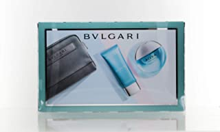 Bvlgari Aqva For Men 3 Piece Set (3.4 Oz Eau De Toilette Spray + 3.4 After Shave Balm + Pouch)