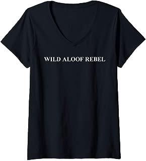 Womens Wild Aloof Rebel V-Neck T-Shirt
