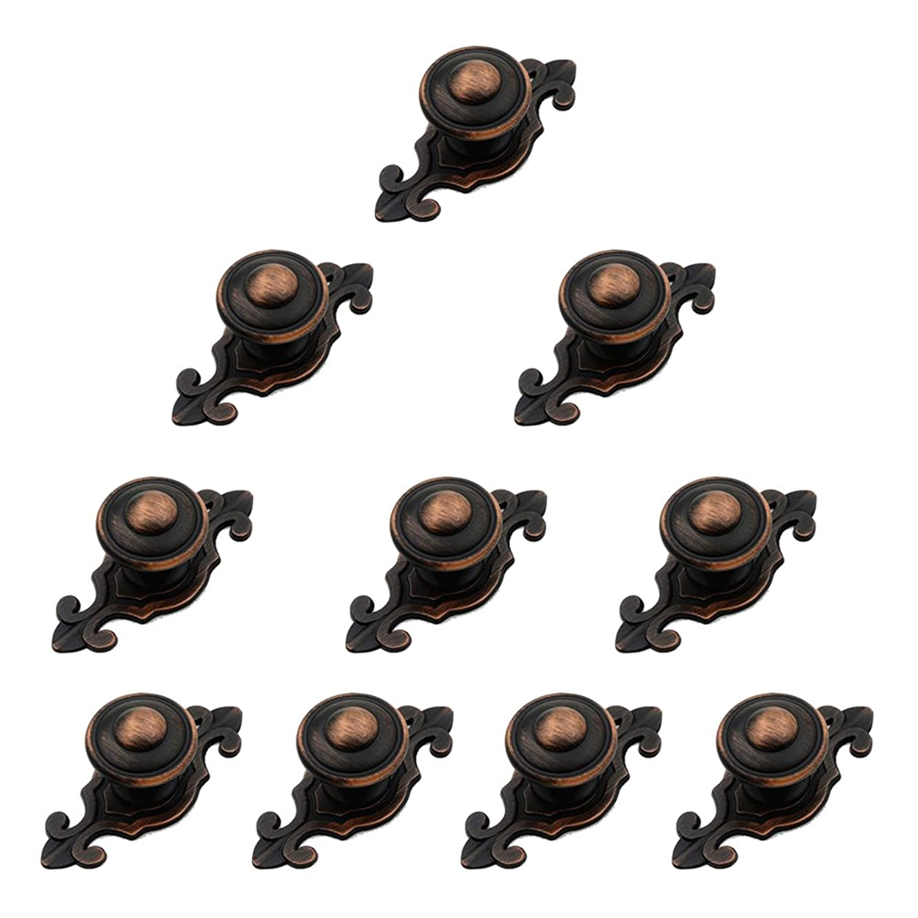 LEICHI Oil Rubbed Vintage Cabinet Handles Furniture Knobs Door Knob Cupboards Wardrobe Hardware Handle Pack of 10