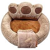 YESBEARS Premium Memory Foam Dog Bed Ultra Soft Microfiber Base (Blanket Included) (X-Large 42x42x20)